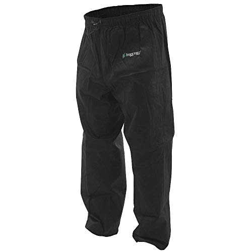 Frogg Toggs Pro Action Waterproof Rain Pant, Black, X-Large