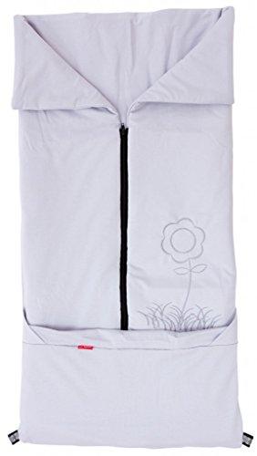 ByBoom® - zomer-kinderwagen voetenzak 2-in-1; universele voetenzak en deken voor babyschaal, autokinderzitje, bijvoorbeeld voor Maxi-Cosi, Romeins, buggy, babybed; grijs