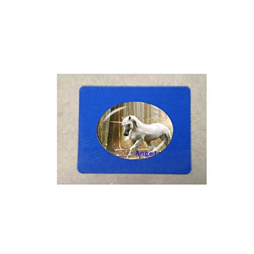 Pendentif en forme de dôme en verre pour bijoux Cheval 8 tapis de souris