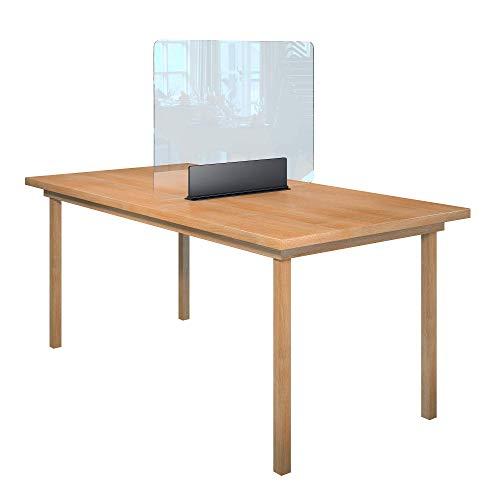 Rulopak Glastrennwand Plexiglas Acrylglas klar Aufsteller Tisch Metall, Trenner, Trennwand, Spuckschutz, Glas (B 80 cm x H 61,6 cm)