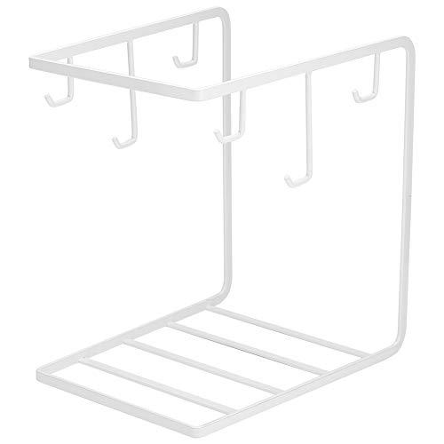 Weikeya - Portavasos de cocina con estantes de madera para colgar