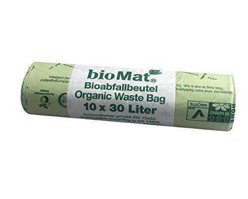 10 Stk. BIOMAT kompostierbare Bioabfallbeutel 30L 53x60cm