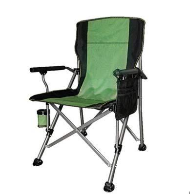 Klappstuhl im Freien,Kleiner leichter Klappstuhl Faltende Outdoorstühle für Erwachsene, Folding Camping Stuhl Heavy Duty Support 330 lbs Outdoor Mesh Back Quad Chair mit Arm Rest Cup Halter und tragba