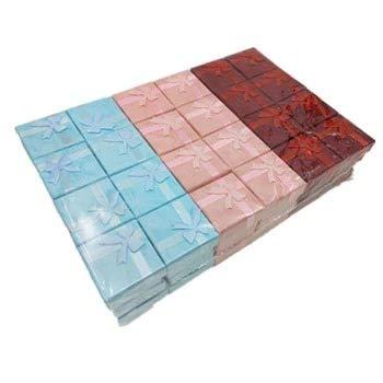 Raccogliere insieme Bowknot Gioielli Imballaggio Display Scatole Regalo 48 pz/lotto 4x4x3cm Carino Box Rosso Rosa Viola Blu Orecchini Scatole Anello All'ingrosso, colore: rosso, rosa, verde.