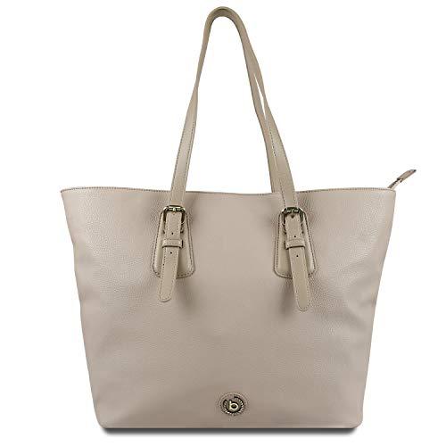 Bugatti Passione Shopper Handtasche Damen, Damenhandtasche Schultertasche – Taupe