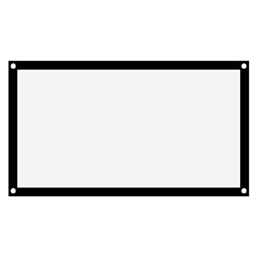 Schermo di Proiezione - 16: 9 HD Pieghevole Non Piega Schermo di Proiezione All Aperto Schermo Cinematografico Tenda del Proiettore per Home Theatre Ufficio Festa Aula(60in)