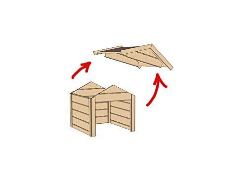 Mähroboter Garage selber bauen: als Vorbild kann die Weka Mährobotergarage - hier Modell Grau Weiß