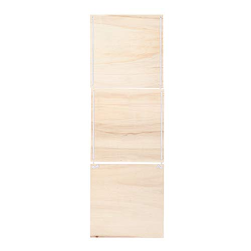 Toyvian Holzschild Deko Wandschilder zum Basteln Malen Hänger Deko Wandbild Wanddeko 30x30cm