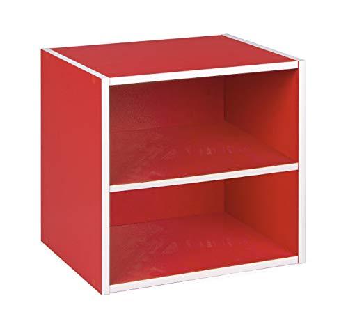 mobiletto bagno rosso BIZZOTTO cubo con mensola