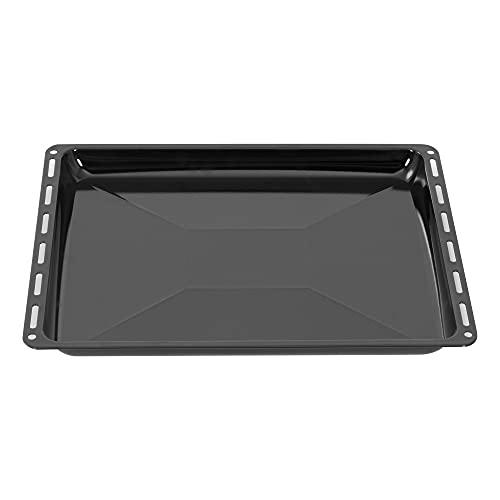 ICQN Bandeja de horno 45,5 x 37,5 x 3 cm | Bandeja de goteo esmaltada para horno y estufa | Adecuado para Bosch, Siemens, Neff, Constructa, Flavel | 455 x 375 x 30 mm