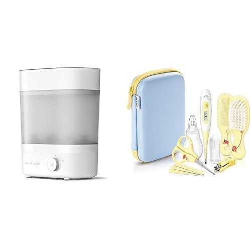 Sterilizzatore elettrico con funzione asciugatrice + Set di tutti gli elementi essenziali per la cura del bambino