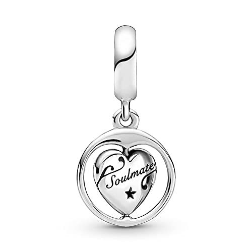 Pandora Fashion 925 Charm Plata De Ley Spinning Forever Always Soulmate Dangle Fit Original Pulsera Joyería De Plata