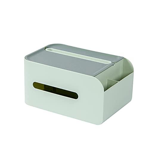Nicoone Servilletero multifuncional con compartimentos divididos, caja de papel para escritorio, dispensador de pañuelos adecuado para el hogar, oficina, almacenamiento de objetos pequeños