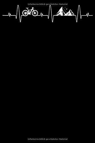 Fahrrad Herzschlag EKG: Notizbuch DIN A5 Blanko 120 Seiten Puls Berge Berg MTB Mountainbike Rennrad Downhill Radsport Bike als Geschenkidee & ... Planer Tagebuch Notizheft Notizblock