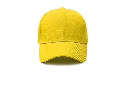 Gorra de béisbol Gorra Casuales Sombreros sólidos Color Puro Gorra Negra Snapback Gorras para Hombres Mujeres-yellow-3-6-10 Hat