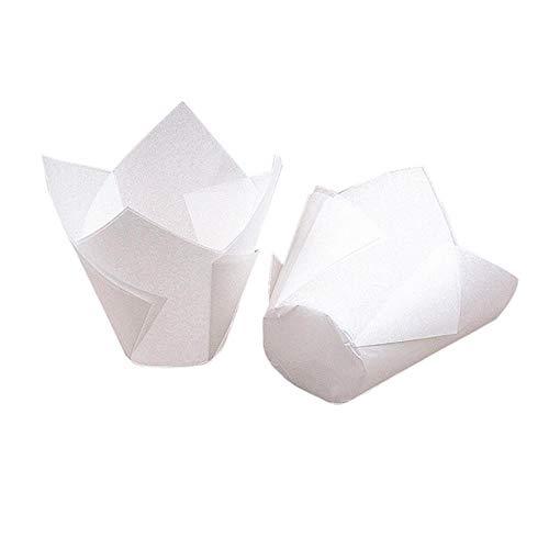 KXCLL 50 unids/set Flor Pastel Decoración Papel Cupcake Herramientas Molde Desechable Cupcake Wrapper Papel para hornear Forro de pastel Herramientas de decoración de moldes