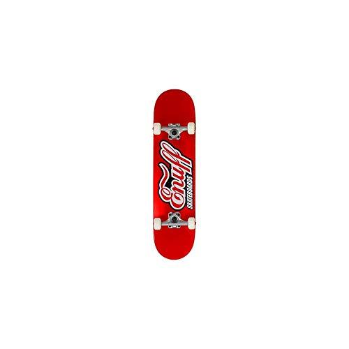 Enuff Skateboards Classic Logo Mini-Skateboard, Erwachsene, Unisex, Rot (rot), 18,9 cm (7,25 Zoll)