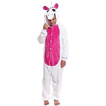 Disfraz Pijama Unicornio Fucsia Infantil (10-12 años): Amazon.es ...