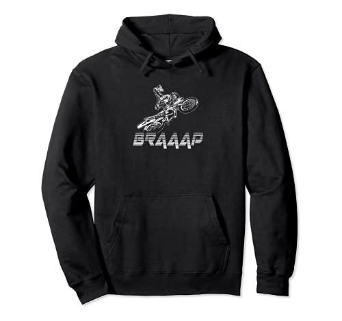 Braap Brap - Maglietta da motocross, 2 tempi Felpa con Cappuccio