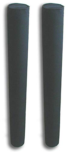 """Mad Dog 48"""" Pair of Boat Trailer Guide Pole Pad and Cover with Capped Ends - Heavy Duty UV Fade Proof Canvas Products -Sold in Pairs - Made in USA - Black"""