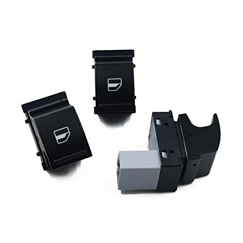 ZHENGJI Botón de Control del Interruptor de la Ventana 3 unids Ajuste para el Seat Alhambra Altea XL Ibiza V Leon Toledo VW Polo 6R TIFAN Jetta Golf 5 OEM: 7L6959855B