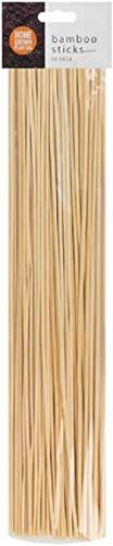 50 Wooden Bamboo Plant Sticks 40cm Garden Canes Plants Support Flower Stick Cane - Plant Support Bamboo Stick - Garden Plant Grow Wooden Support (1)