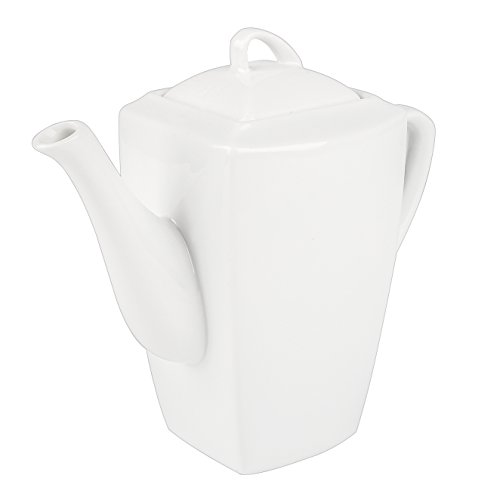 MALACASA, Series Blance, 1 pieza 8,5'(de carpintero) cafetera tetera de Porcelana Marfil con tapa (29 * 10 * 19.5 cm)