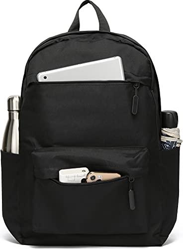 SAKUTANE Black Backpack 21Liter Waterproof Rucksack 15.6 inch Laptop School...