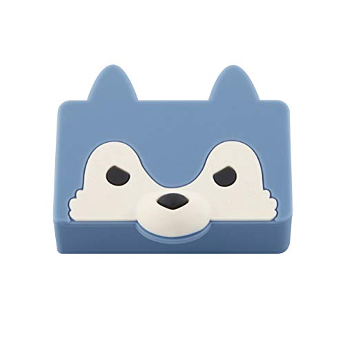 マックス ホッチキス針 シリコンカバー ケース付き りくちのいきもの オオカミ NO.10-1M/S WL