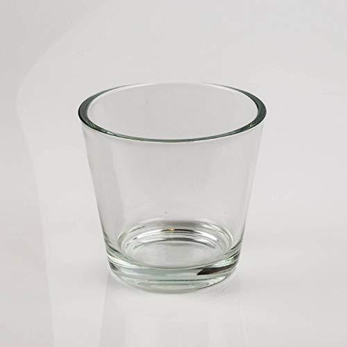 INNA-Glas Blumentopf - Teelichtglas RANA, klar, 13cm, Ø 14cm - Kerzenglas - Blumenübertopf