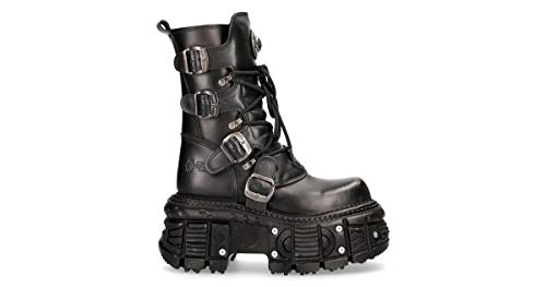 New Rock Schuhe Shoes Boots Stiefel M.TANK373-S4 Gothic Tank Collection (41 EU, Schwarz)