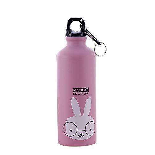 IFENG Cartoon Cute Animal Sportflasche Outdoor Sports Cup Fahrrad-Pot-beweglicher Edelstahl-Aluminium-Teekanne-Bunny
