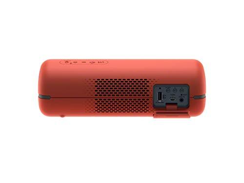 Sony SRS-XB32 Speaker Compatto Portatile con Extra Bass, Resistente all'Acqua, Luminoso, Rosso