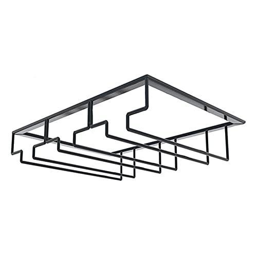 RWEAONT Montaje en la Pared de Hierro Copa de Vino de Vidrio Soporte para Colgar Soporte de Copa STEMWARE DE Almacenamiento Organizador Rack Organizador de Cocina Accesorios (Color : A)