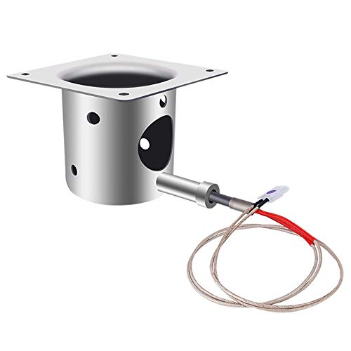 PQZATX Fire Burn Pot and Hot Rod Igniter Kit Replacement Parts for Pit Boss and Pellet Grill with Screws and Fuse