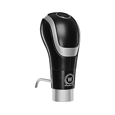 WAERATOR WA-A01-BK Instant 1-Button Electric Wine Aeration and Decanter Pourers, Black