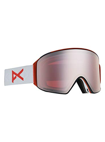 Product Image 1: Anon Men's M4 Cylindrical Goggle with Spare Lens, Eyes Frame Sonar Silver Lens; Spare Lens: Sonar Infrared