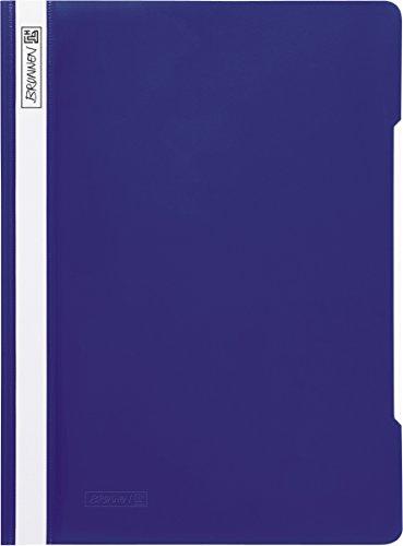 Brunnen 102010930 Schnellhefter (A4, aus PP, glasklares Deckblatt) blau