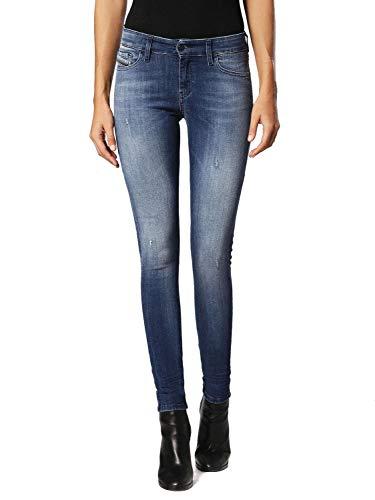 Diesel - - Jeans Slandy Skinny pour femmes à la lessive: 084IY, 27W x 32L, Denim