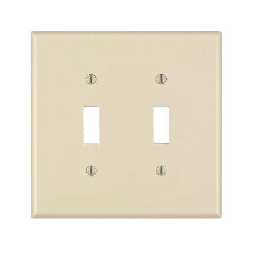 Leviton - Placa de pared para interruptor de dispositivo de 2 interruptores, PJ2-A