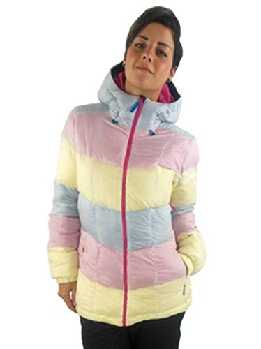 O'Neill donsjas snowboardjas Explore Moonstone roze geel capuchon