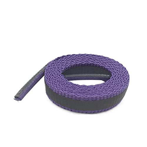 Los Cordones de Zapato del cordón 4m Plana Reflectante Operando Shoestrings Caminatas Ciclismo de la Zapatilla de Deporte Botas de la Armadura de la Cinta, 324 4m púrpura, 80cm