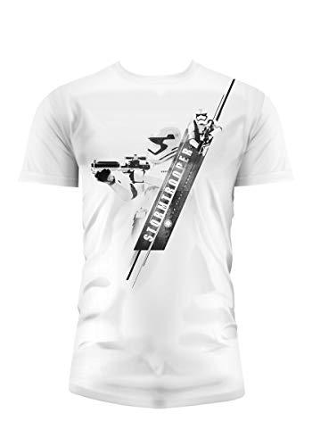 SD toys - T-Shirt - Star Wars Episode 7- Homme Stormtrooper Blaster Blanc Taille XL - 8436546898733