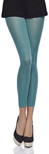 Merry Style Damen Mikrofaser Leggings Clara 40 DEN (Mint, XS/S (30-36))