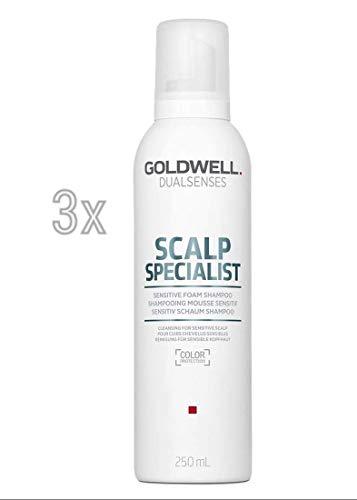 Goldwell Scalp Specialist Sensitive Foam Shampoo 3 x 250 ml Dualsenses GW