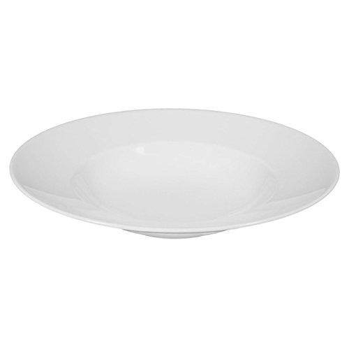 Seltmann Weiden - Lukullus - Pastateller -Teller Tief - Rund - Porzellan/Hartporzellan - Weiß - Ofen- Mikrowellen- und Spülmaschinenfest -Ø 30 cm
