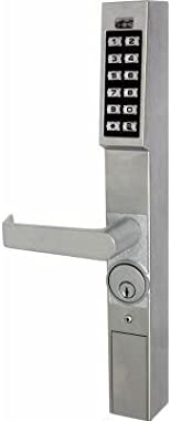 Alarm Lock DL1200 Trilogy Aluminum Narrow Stile Digital Keypad Lock