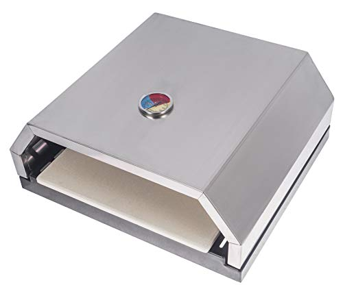 Broilmann Open Faced Grill Pizza Oven with Stone for Gas or Charcoal Grill