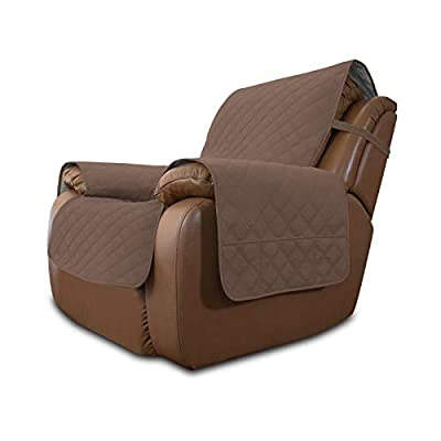 Easy-Going Sofa Slipcover Waterproof Oversized Recliner Chair Cover Non-Slip Fabric Couch Cover for Living Room Washable Furniture Protector for Pets Kids Children Dog Cat (Oversized Recliner,Brown)