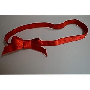 4 x Schnelle Geschenkverpackung, Gummiband, Satin Strechschleife, elastische Schleife, Geschenk Weihnachten, rot –